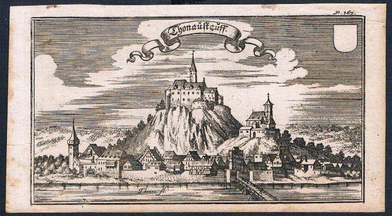 1705 - Donaustauf Donau Ertl Kupferstich engraving