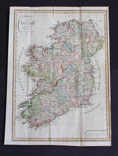 1809 - Irland Ireland map engraving