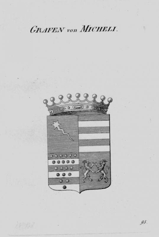 1820- Micheli Wappen Adel coat of arms heraldry Heraldik crest Kupferstich