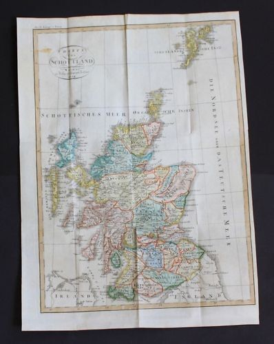 1809 - Schottland Scotland map engraving