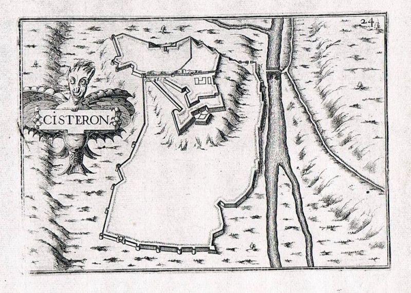 1660 - Sisteron Forcalquier Alpes-de-Haute-Provence gravure Kupferstich Tassin