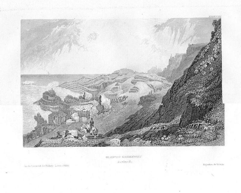 1840 - Giant's Causeway Ireland Irland Stahlstich