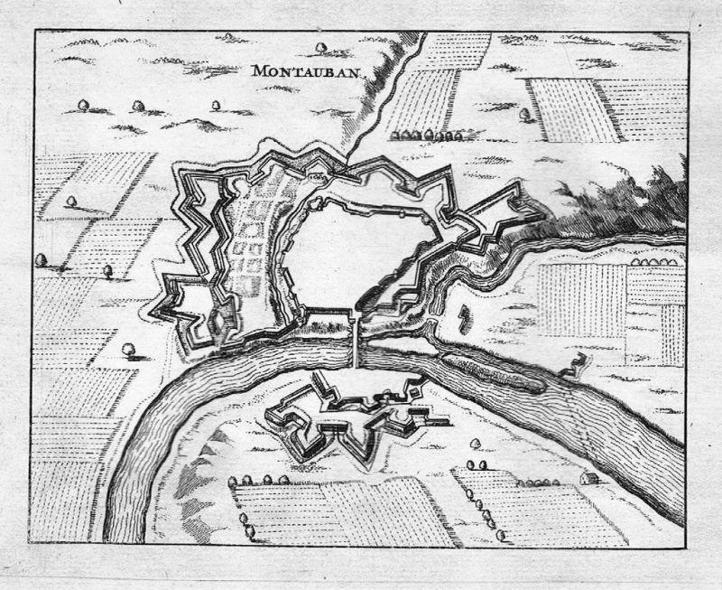 1700 - Montauban Tarn-et-Garonne gravure Kupferstich engraving