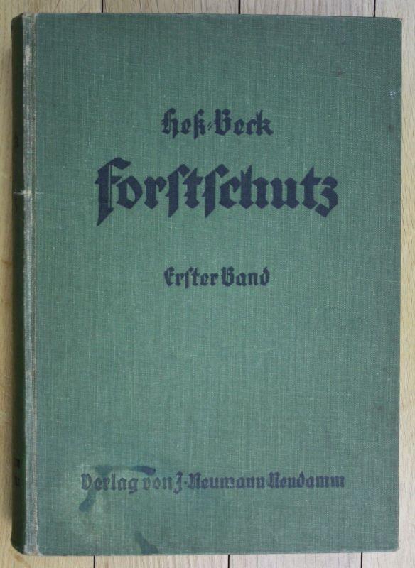 1927 Max Dingler Schutz gegen Tiere Heß-Beck Forstschutz Jagd Jäger Forstwesen