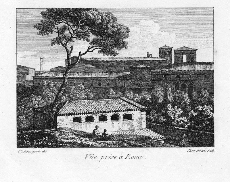 1804 - Roma Rom Rome incisione stampe Bourgeois acquaforte veduta