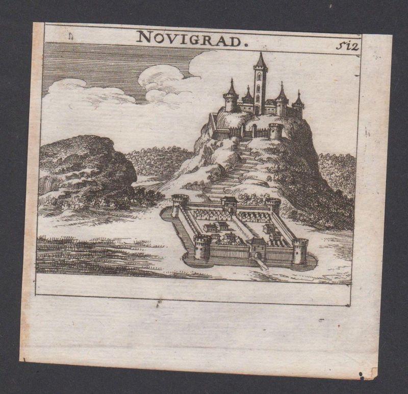 1686 - Nograd Novigrad Ungarn Hungary Hongrie Kupferstich engraving Krekwitz