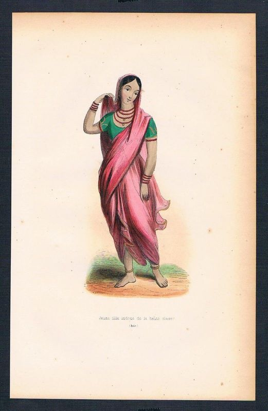 1840 - Indien India Asien Asia costumes Trachten antique print