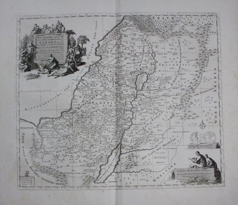 1720 - Israel Palestine Jerusalem Holy Land Luchtenburg Kupferstich map Karte