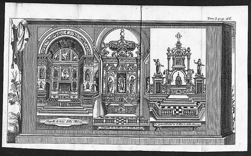 1700 - Napoli incisione engraving Kupferstich  acquaforte carta veduta