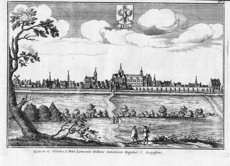 1690 - Lo-Reninge Diksmuide Vlaanderen Kupferstich gravure