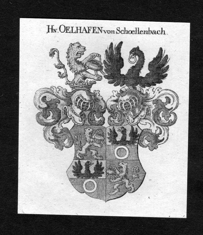 1820 - Oelhafen von Schoellenbach Schöllenbach Wappen Adel coat of arms Heraldik