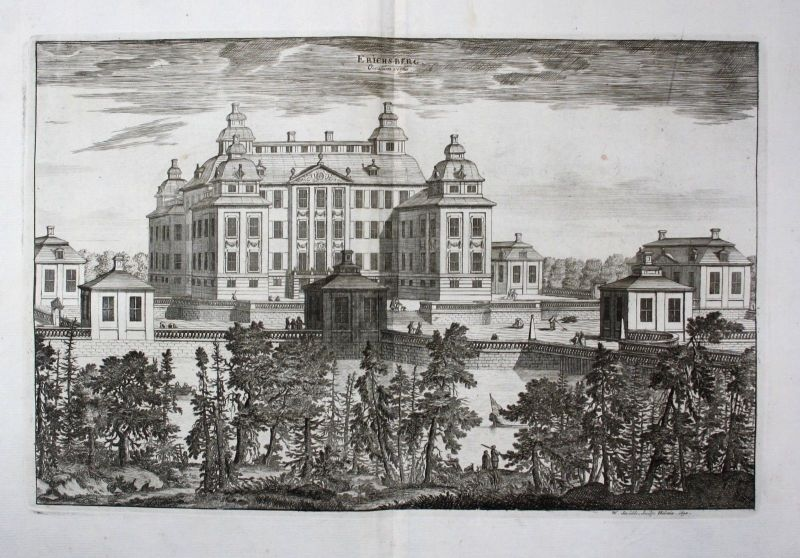 1710 - Ericsberg slott Katrineholm Södermanland Kupferstich Dahlberg engra 64869