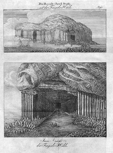 1800 - Staffa Island Scotland Schottland engraving
