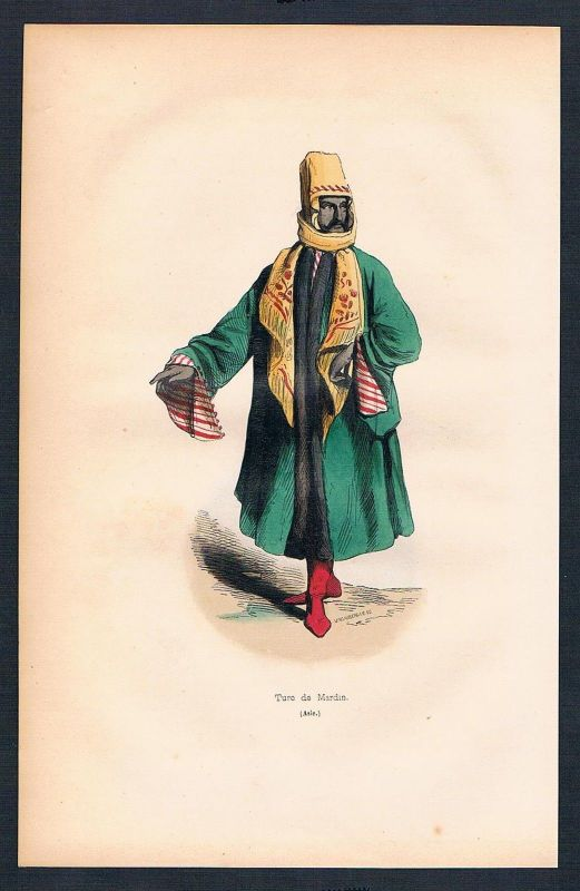 1840 - Türkei Turkey Asien Asia costumes Trachten antique print