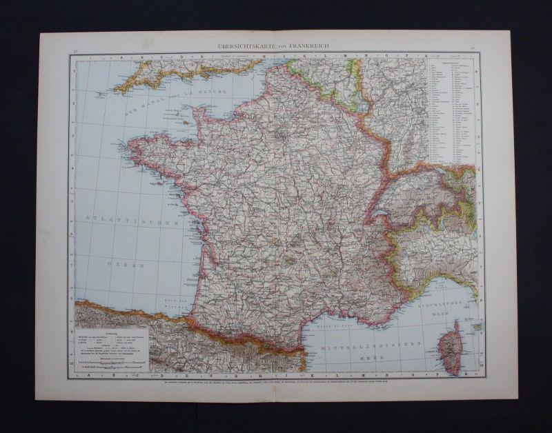 Lyon Karte.Antiquitaten Kunst Frankreich 1800 France Frankreich