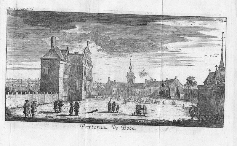 1700 - Kasteel Boom Heerenhof Turnhout gravure Kupferstich map carte Belgique