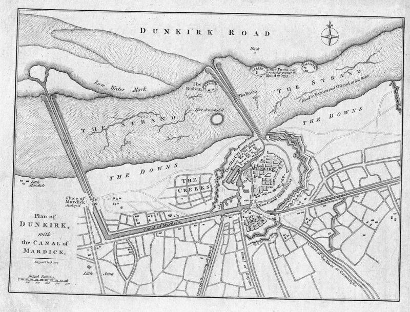 1800 - Dunkerque gravure Original Kupferstich engraving