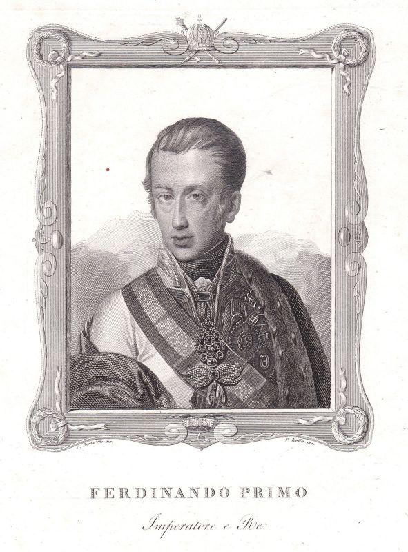 Ferdinand I. HRR Kaiser König Holy Roman Emperor Portrait Kupferstich antique