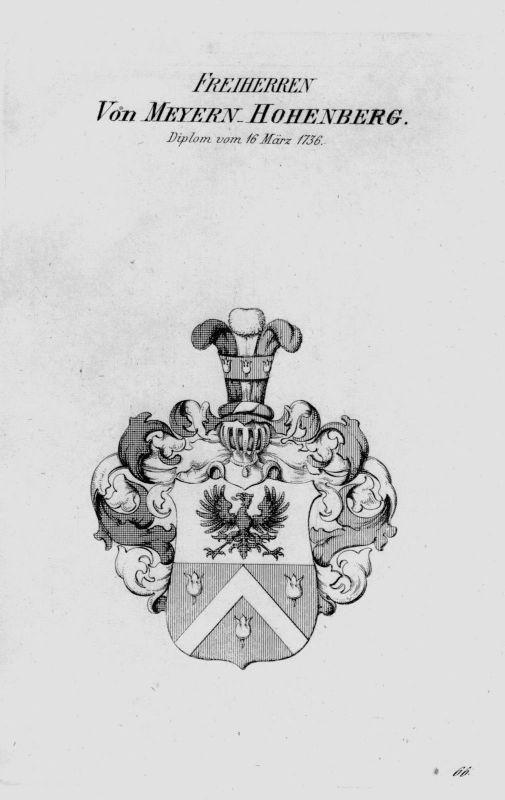 1820 - Meyern Hohenberg Wappen Adel coat of arms heraldry Heraldik Kupferstich