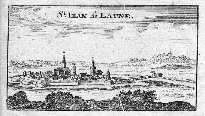 1680 - Saint-Jean-de-Losne gravure Kupferstich gravure engraving