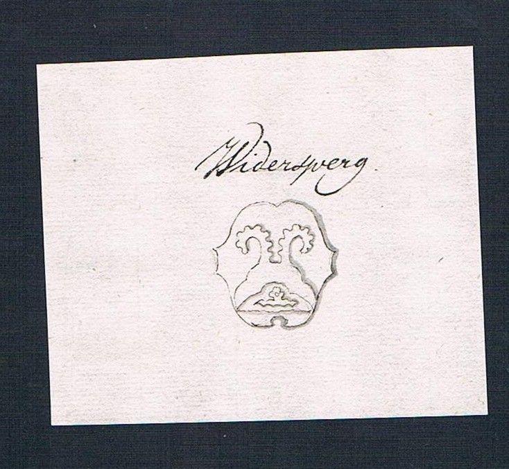 18. Jh. Wiedersperger Handschrift Manuskript Wappen manuscript coat of arms