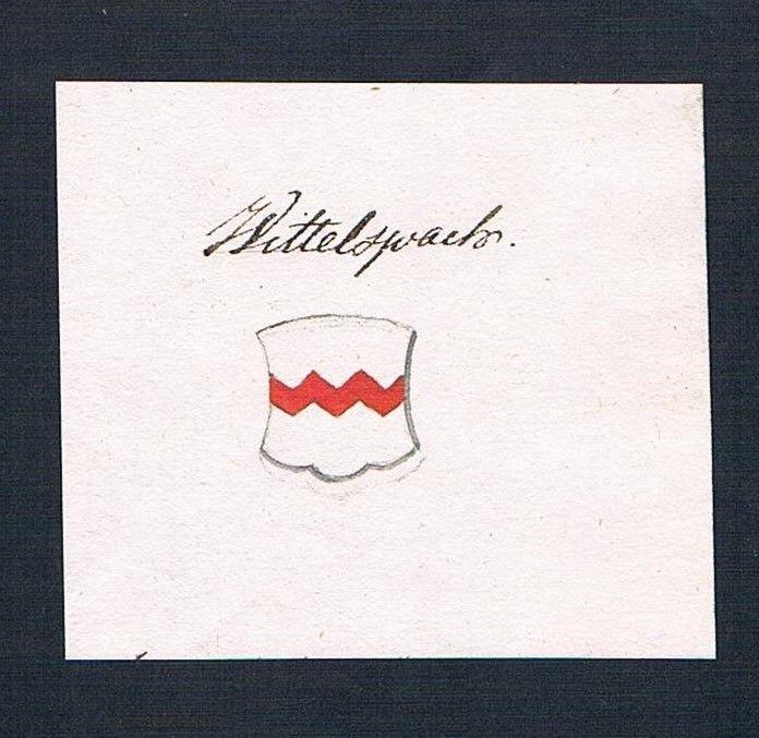 18. Jh. Wittelsbach Adel Handschrift Manuskript Wappen manuscript coat of arms