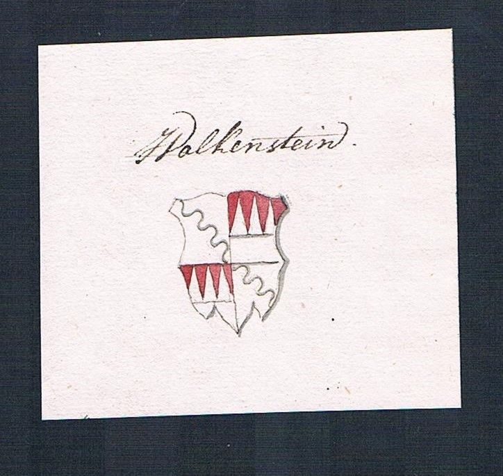 18. Jh. Wolkenstein Adel Wappen Handschrift Manuskript manuscript coat of arms