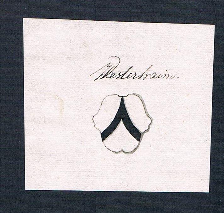 18. Jh. Westerheim Handschrift Manuskript Wappen manuscript coat of arms