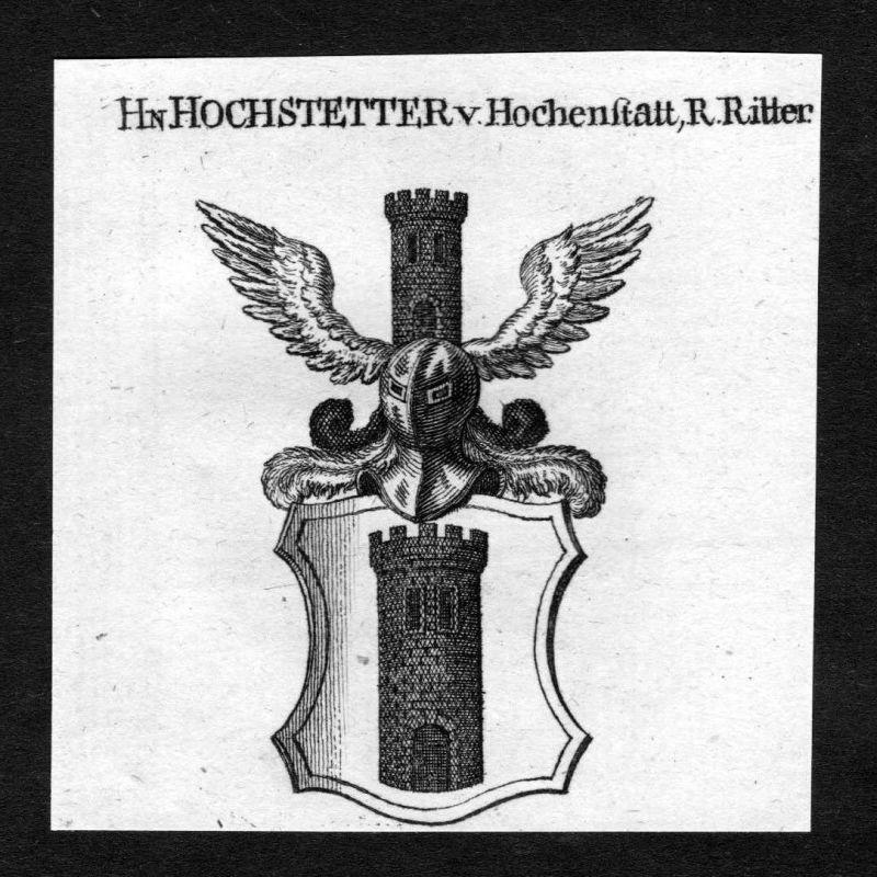 1820 - Hochstetter von Hochenstatt Wappen Adel coat of arms heraldry Hera 125929