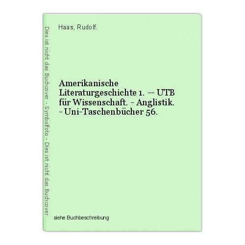 Amerikanische Literaturgeschichte 1. -- UTB für Wissenschaft. - Anglistik. - Uni