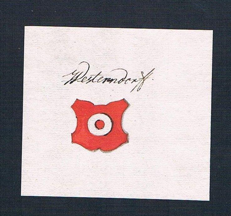 18. Jh. Westendorf Wappen Handschrift Manuskript manuscript coat of arms