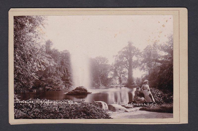 1890 Schuhman & Sohn Schlossgarten Karlsruhe Fotograf Foto Photo Photograph