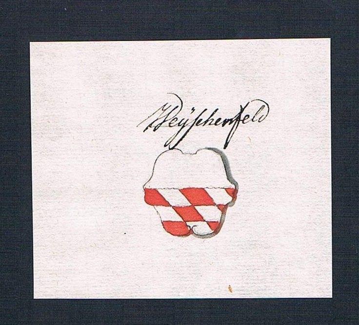18. Jh. Waischenfeld Handschrift Manuskript Wappen manuscript coat of arms