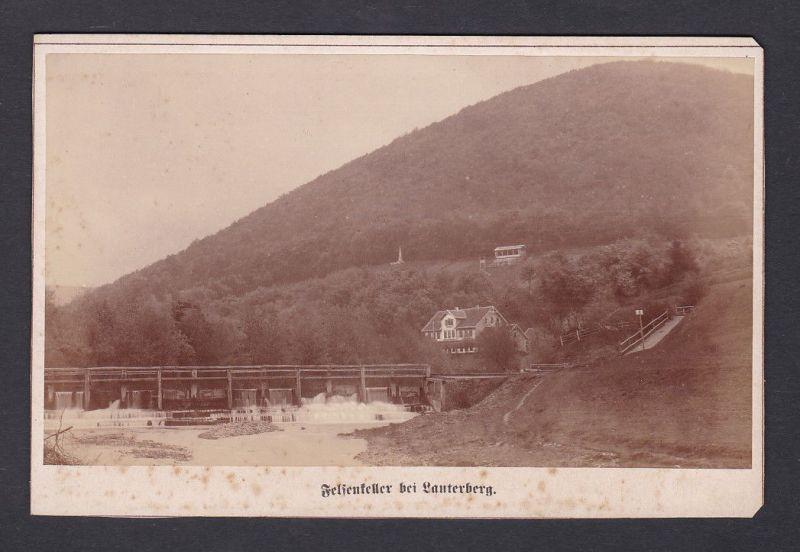 1890 H.C. Böttcher Felsenkeller Lauterberg Fotograf Foto Photo Photograph