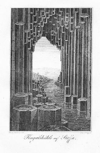 1820 - Staffa Fingal's Cave Scotland Kupferstich