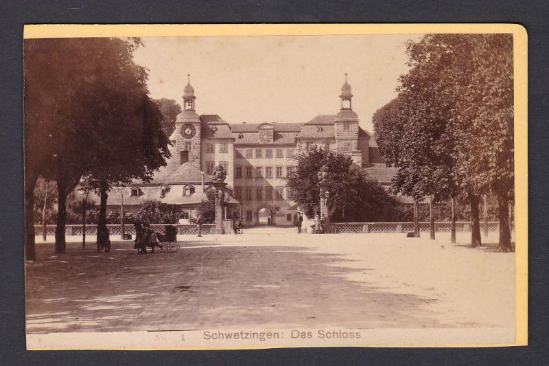 1890 Otto Schwarz Schwetzingen Schloss Fotograf Foto Photo Photograph Ansicht