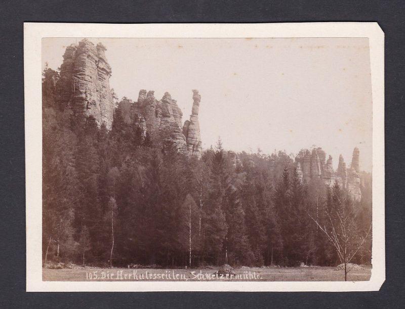 1890 Die Herkulessäulen Schweizermühle Fotograf Foto Photo Photograph Ansicht