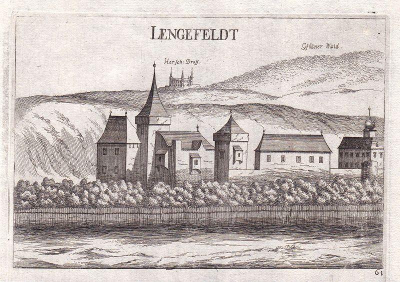 1672 Lengenfeld Krems-Land Ansicht Kupferstich antique print Vischer Österreich