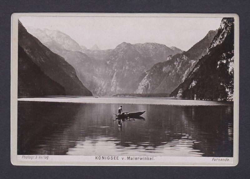 1890 Fernande Königsee v. Malerwinkel Fotograf Ansicht Foto Photo Photograph