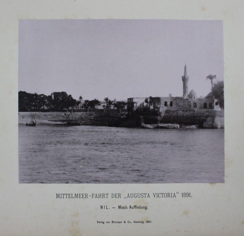 1891 - Nil Nile Affindung Mose Moses albumen albumin Foto photo
