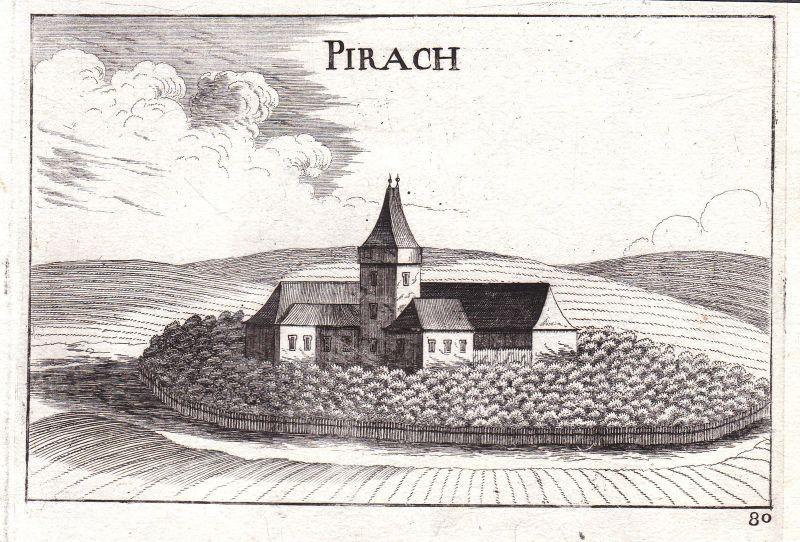 1672 Pyhrahof Japons Priach Kupferstich antique print Vischer Niederösterreich