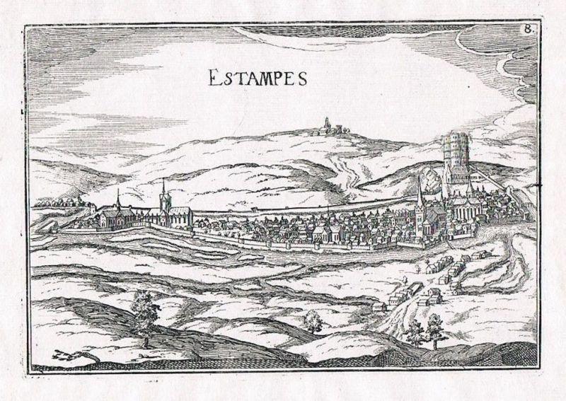 1660 - Estampes Midi-Pyrenees France Original gravure Kupferstich Tassin