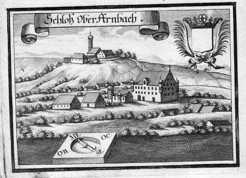 1701 Oberarnbach Edelshausen Schrobenhausen Kupferstich