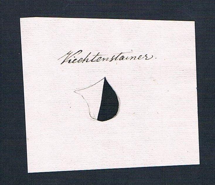 18. Jh. Viechtenstainer Handschrift Manuskript Wappen manuscript coat of arms