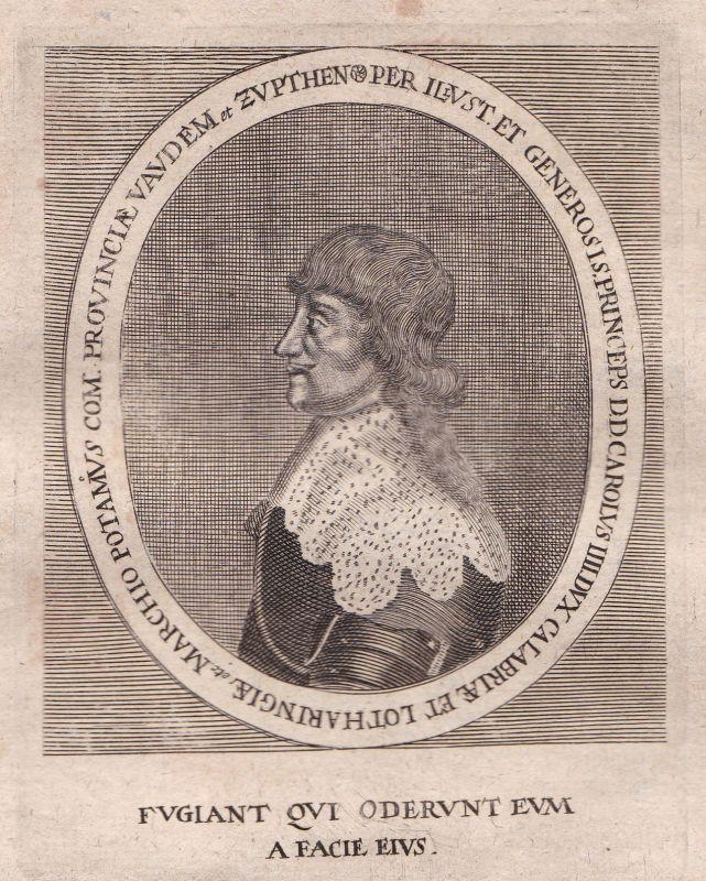1650 Karl IV Lothringen Kalabrien Lorraine Portrait Kupferstich antique print