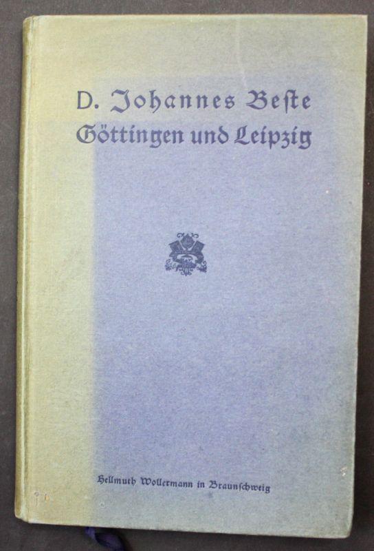 1917 Beste, J. Göttingen u. Leipzig: Universität Erinnerungen Landeskunde