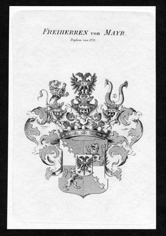 1820 - Mayr Wappen Adel coat of arms heraldry Heraldik Kupferstich