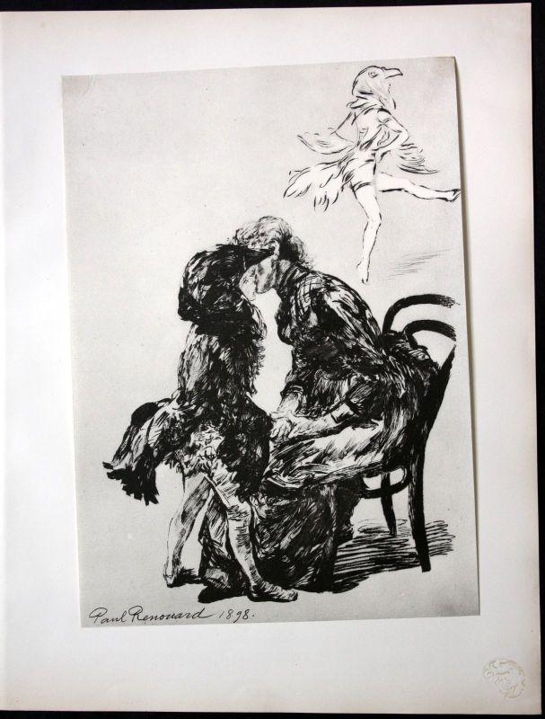 1898 Paul Renouard Art Nouveau Jugendstil Lithographie Poster estampe Moderne