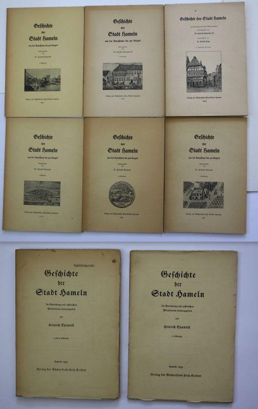 1939 H. Spanuth Geschichte der Stadt Hameln Landeskunde Chronik Niedersachsen