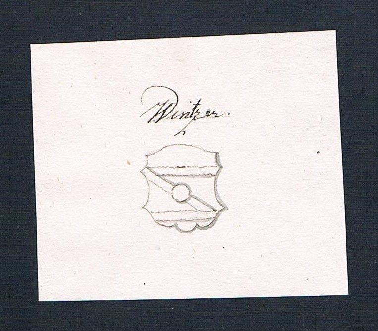 18. Jh. Winzer Wappen Handschrift Manuskript manuscript coat of arms